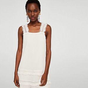 MANGO | White ISA Dress | Size 6 | NWT
